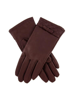 Women's Leather Bow Gloves