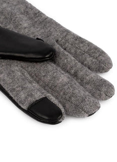 Women's Unlined Touchscreen Wool & Leather Gloves