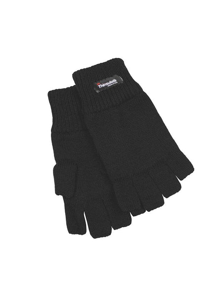 Women's Thinsulate Lined Half Finger Knit Gloves