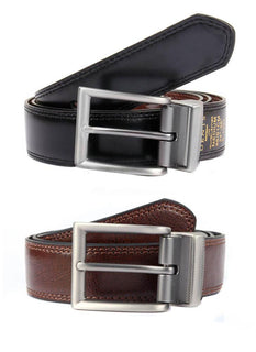 Reversible Coated Leather Belt