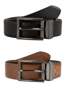 Men's Reversible Grainy Leather Belt