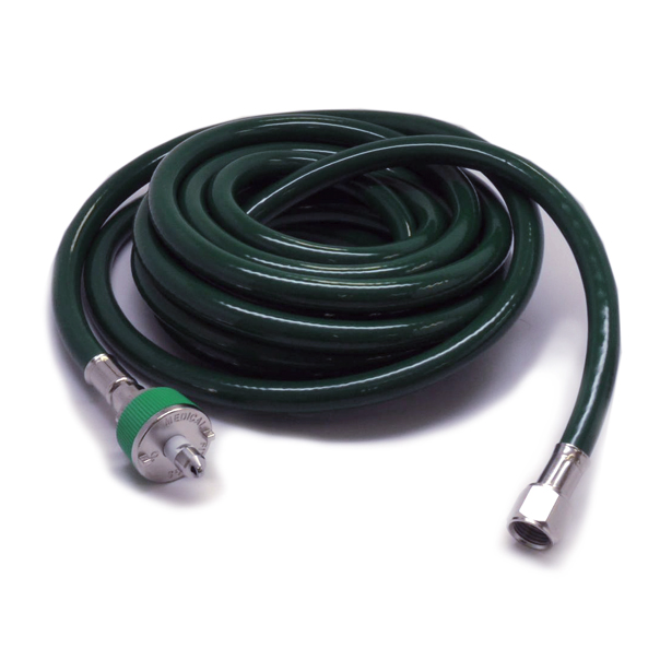 Mindray 15ft Green O2 Hose, w/ Ohmeda Fittings (NEW)