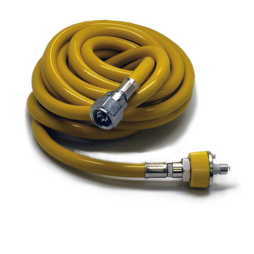 Mindray 15ft Yellow Medical Air Hose, w/ Ohmeda Fittings (NEW)