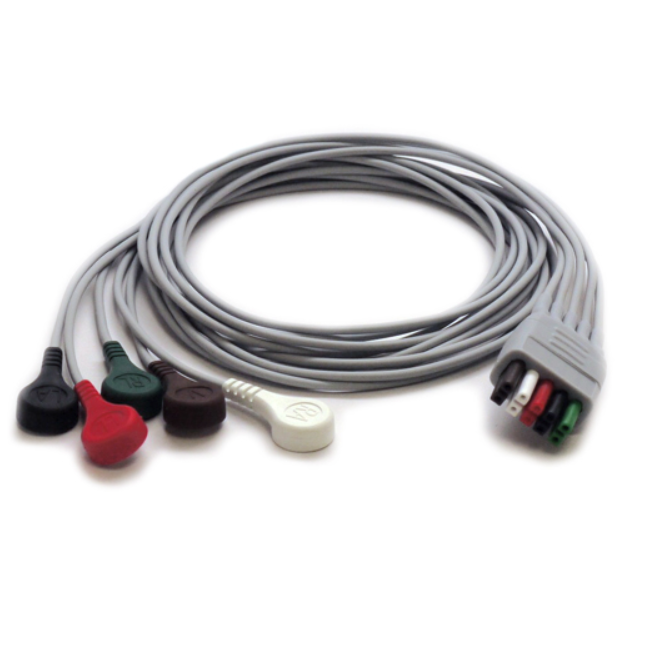 Mindray 5 Lead Mobility ECG Snap Lead Wires - 24""