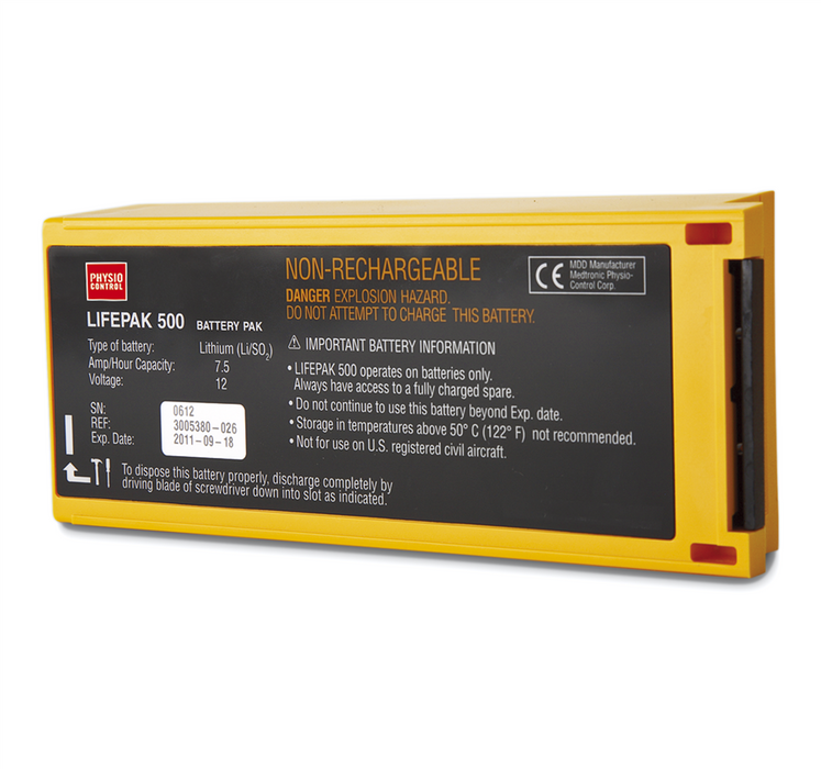 Physio Control Non-Rechargable 7.5Ah Li-SO2 Battery for LIFEPAK 500 AED