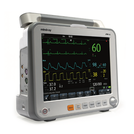 Mindray cPM 12 Patient Monitor with Masimo SpO2, 3/5-lead ECG, NIBP, Resp, Temp, + Arrhy (NEW)