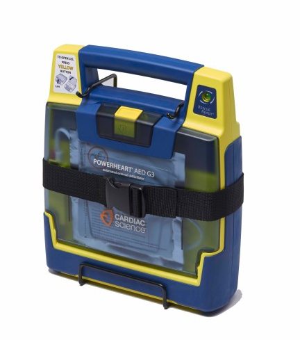 Cardiac Science Wall Storage Bracket with Belt for Powerheart AEDs