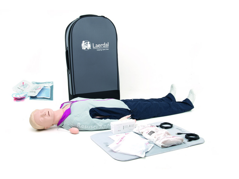 Resusci Anne QCPR AED Full Body in Trolley Case - Laerdal 173-01260