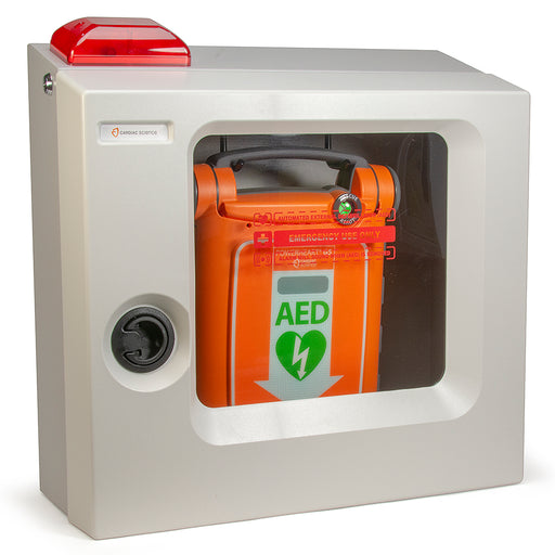 Traditional Surface-Mount AED Wall Cabinet with Alarm & Strobe Light - Cardiac Science 180-2021-001