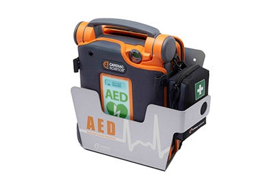 AED Wall Sleeve stores Powerheart AEDs (in case) - Cardiac Science 180-2022-001