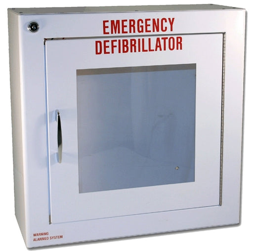 Large Alarmed Basic AED Cabinet 17.5in X 17.5in X 7in
