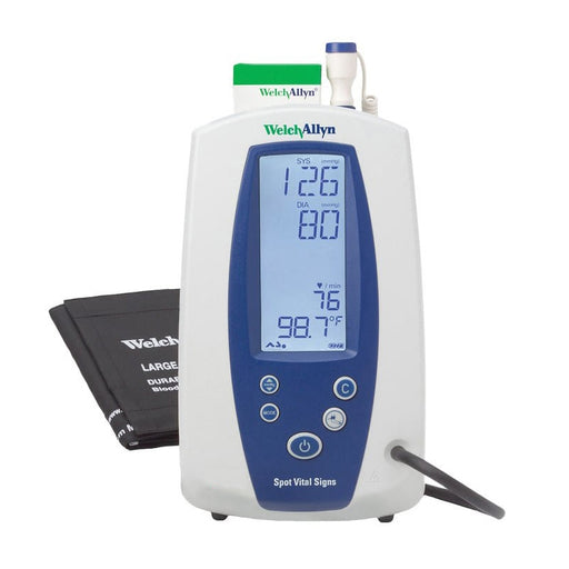 Welch Allyn Spot Vital Signs Monitor- NIBP, Temp, Pulse Rate, MAP (Refurbished)