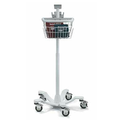 Welch Allyn Spot Vital Signs Monitor Roll Stand with Basket (NEW)