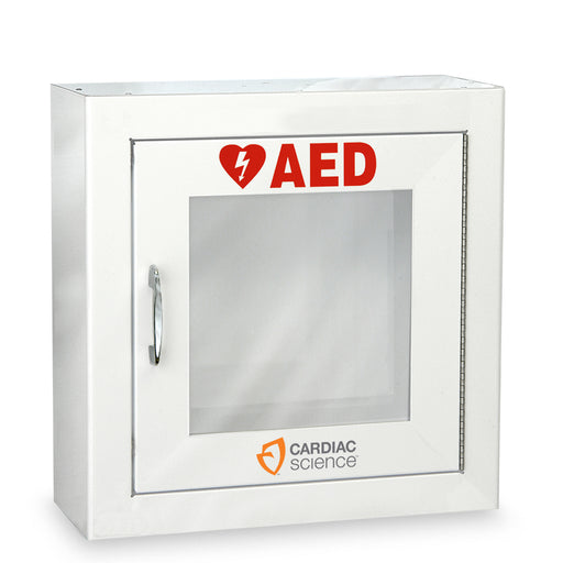 AED Wall Cabinet by Cardiac Science with Alarm & Strobe Options