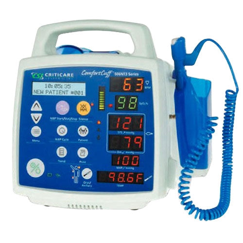 Criticare VitalCare 506DNP3 Patient Monitor - DOX SpO2, NIBP, Printer, Heart Rate (NEW)
