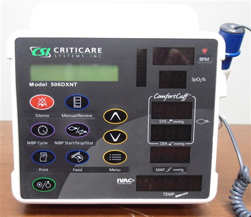 Criticare 506 Series Vital Signs Monitor w/ IVAC - 506DXNT