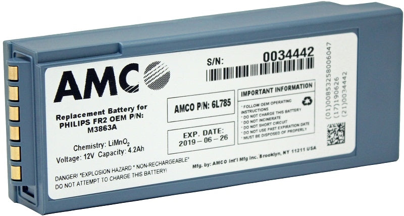 Amco Lithium Ion Battery Replacement for Phillips FR2/FR2+