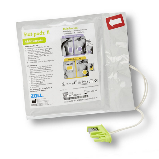 Zoll Stat-Padz II HVP Multi-Function Electrodes, 12 Pack