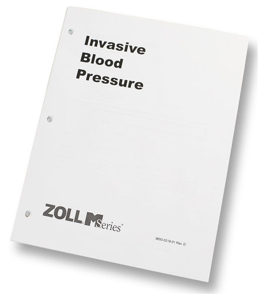 Zoll Invasive Blood Pressure Operator's Guide Insert