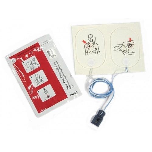 Philips HeartStart AED Defibrillator Pads, 1 Set, for FR2 and others