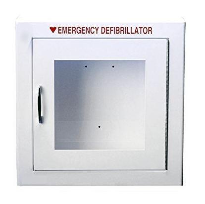 Large Non-Alarmed Basic AED Cabinet 17.5in X 17.5in X 7in