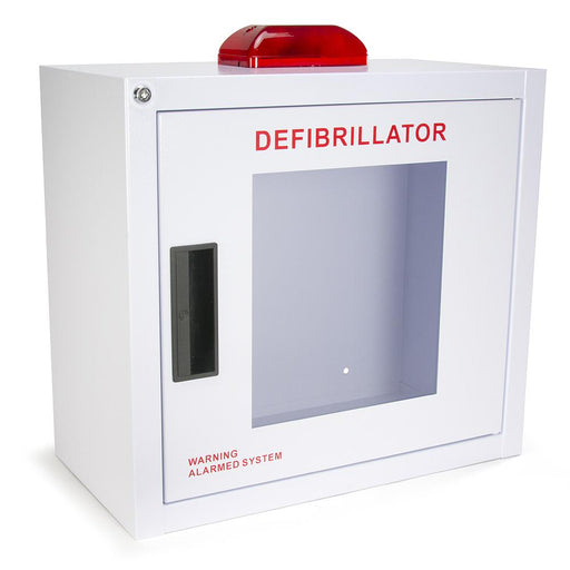 Large AED Wall Cabinet w/alarm and strobe - Generic AED AMP16SQ-S