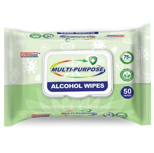 GERMisept Antimicrobial Alcohol Wipes - single pack