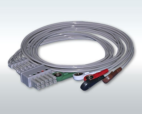 Bionet 5-Lead ECG Cable - Snap Type (NEW)