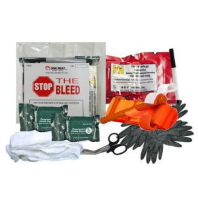 One Beat CPR Basic Bleeding Control Kit 2 - Vacuum Wrapped