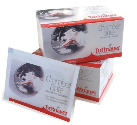 Tuttnauer Chamber Brite AutoClave Cleaner (1 Case = 12 Boxes = 120 Packets)