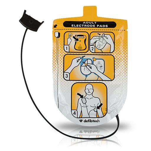 Defibtech Adult Defibrillation Pads, for Lifeline AED