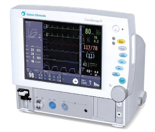 Datex Ohmeda (GE) Cardiocap 5 Patient Monitor with ETCo2 (Refurbished)