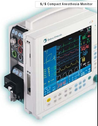 Datex Ohmeda (GE) S/5 Compact Anesthesia Monitor w/ M Modules (Refurbished)