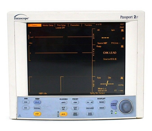 Datascope Passport 2 LT Patient Monitor - ECG, SpO2, T, NiBP, Printer (Refurbished)