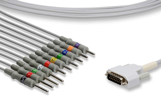 K10-NK2-N0 Nihon Kohden Compatible Direct-Connect EKG Cable. 10 Leads Needle 340 cm