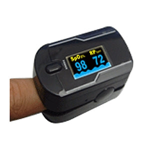 Finger Pulse Oximeter with Dual Color OLED Display