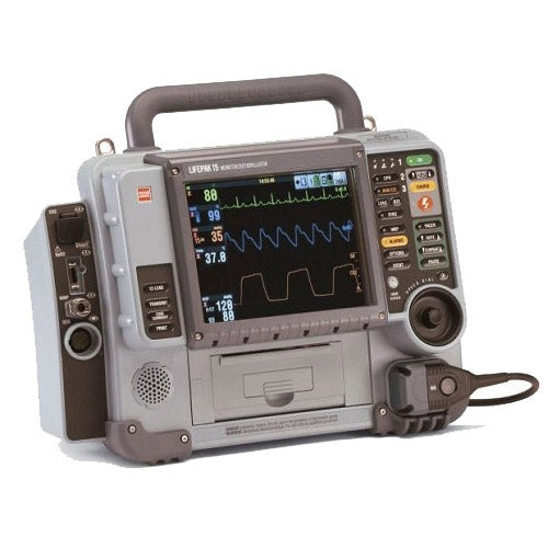 Physio Control LIFEPAK 15 - Biphasic, 12 Lead ECG, AED, Pacing, SPO2, NiBP, EtCO2, Bluetooth (Refurbished)