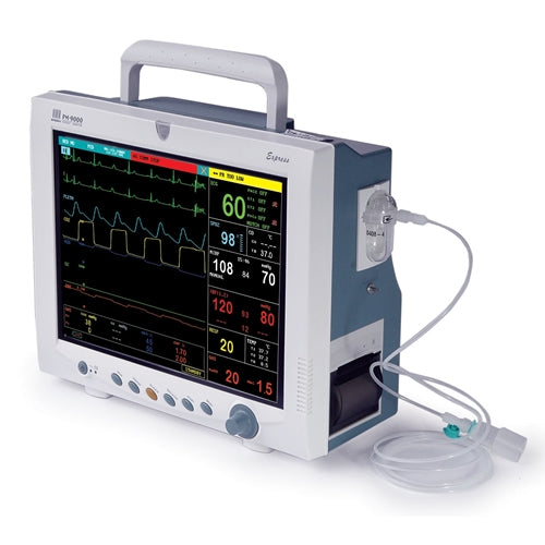 Mindray PM-9000 Patient Monitor - ECG, SpO2, NiBP, IBP, Temp, 5 Agent, Printer (Refurbished)
