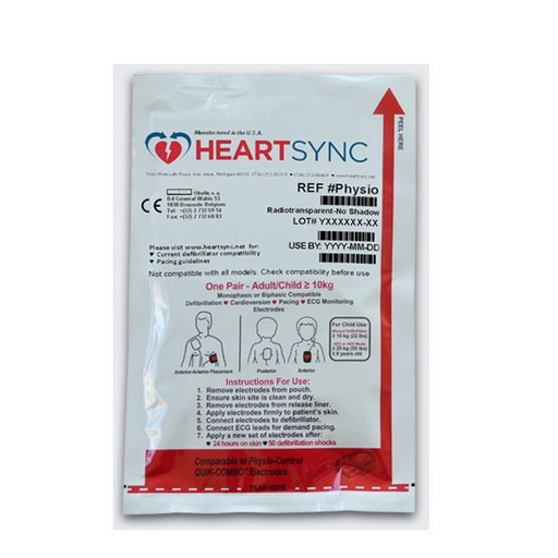 HeartSync Adult or Child Electrode Pads for Physio Control LIFEPAK AEDs and Defibs