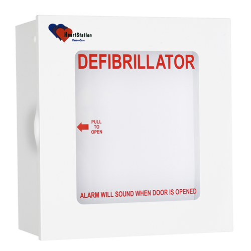 HeartStation RescueCase Alarmed AED Cabinet - 15in x 14in x 7in