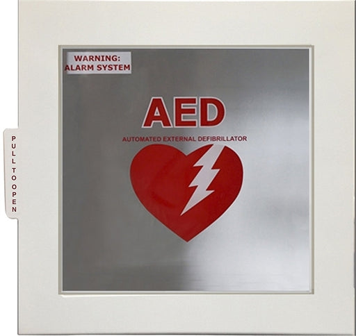 Small Alarmed AED Wall Cabinet, 13.5in x 13in x 7in