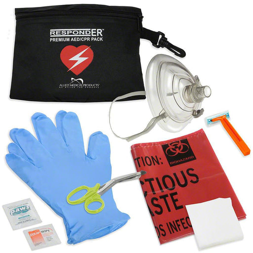 CPR/AED Rescue Kit -NO LOGO - Generic AED AMP1013