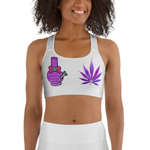 Load image into Gallery viewer, Water Pipe Hemp Leaf Sports Bra