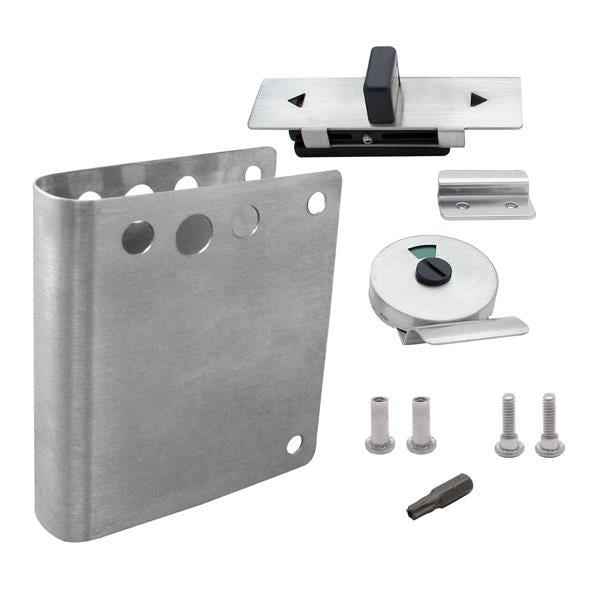 "FIX-IT-KIT - Bathroom Partition Slide Latch Indicator 1"" Door Operation Inswing - 012662"