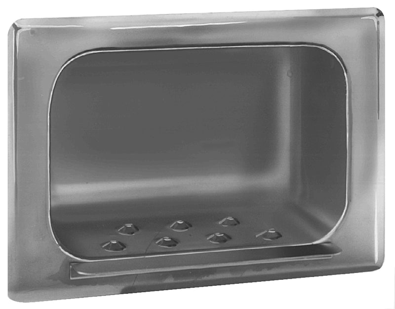 Soap Dish, Satin SS, Recessed - Bradley-9403-000000