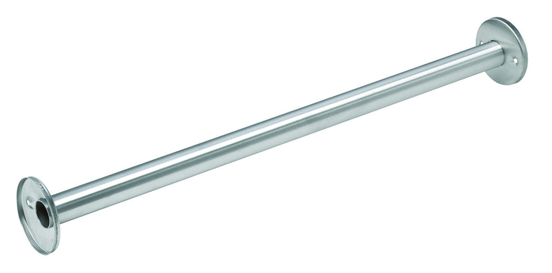 "Shower Rod 1"" OD x 36"" Stainless Steel with Exposed Flange - Bradley - 953-036000"