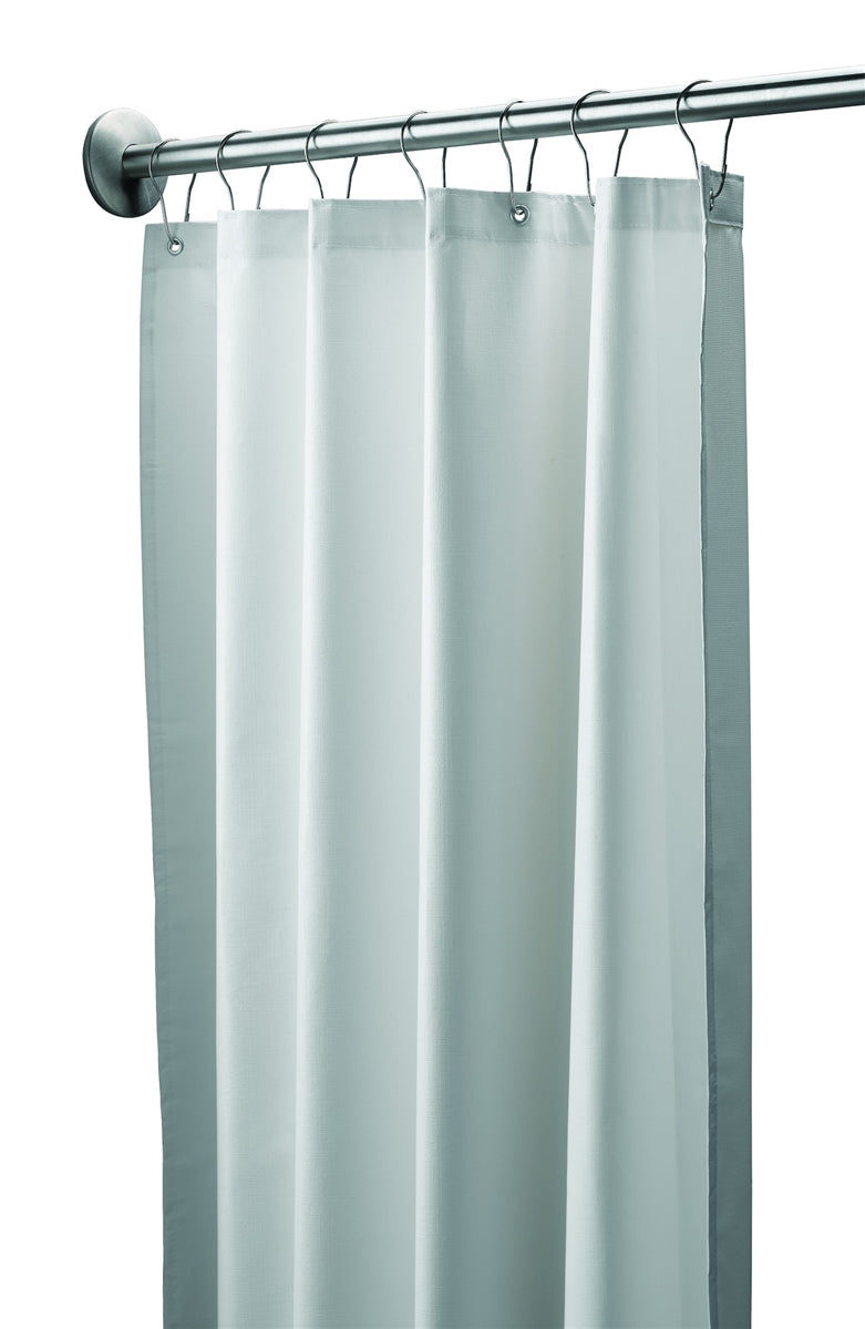 Shower Curtain, Vinyl, White-Bradley-9533-427200