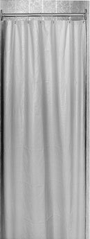 Shower Curtain, Vinyl, White-Bradley-9537-727200