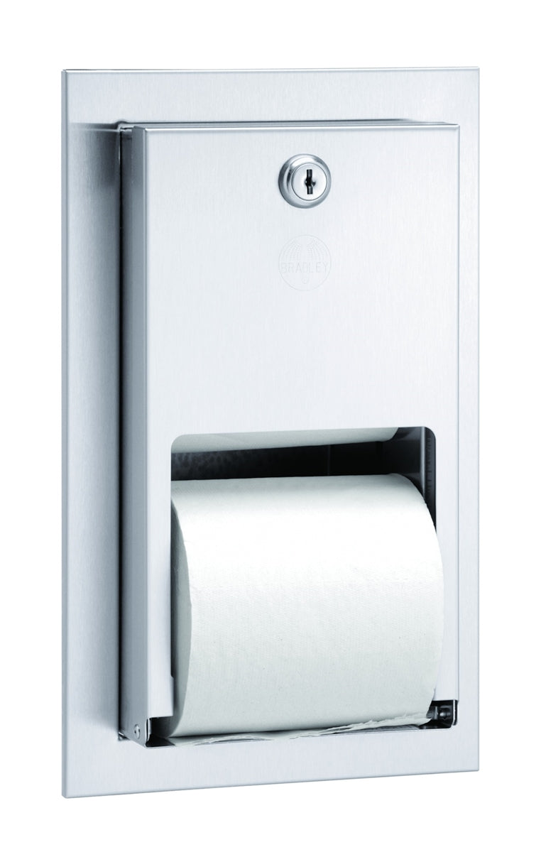 Toilet Tissue Dispenser, Recessed, Dual - Bradley - 5412-000000