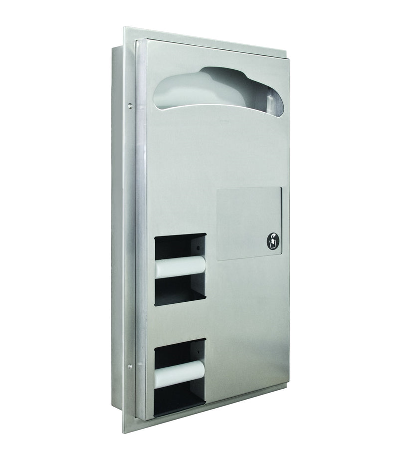 Combination Seat Cover, Toilet Tissue Dispenser and Waste - Bradley - 591-000000
